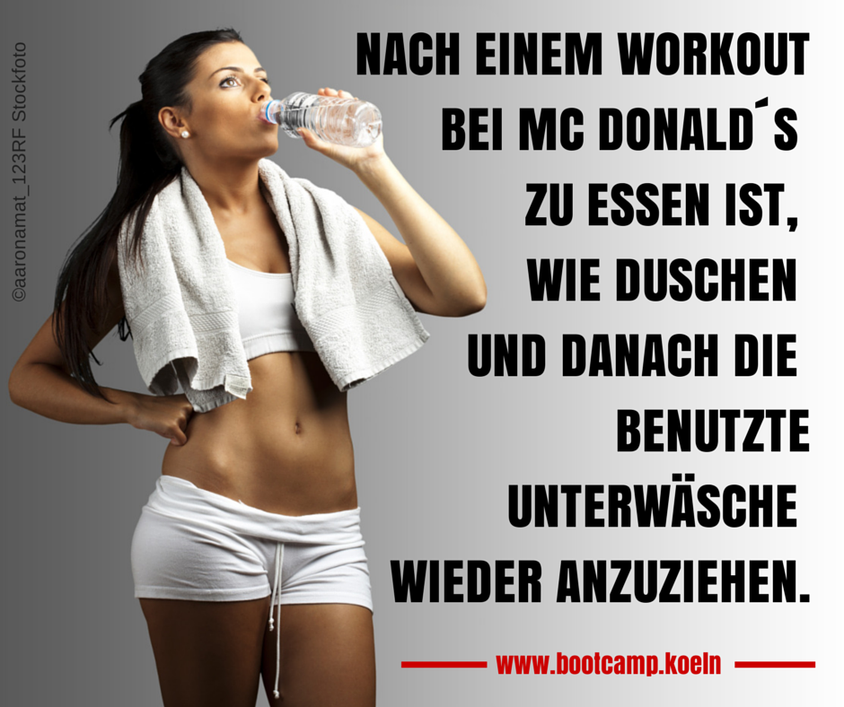 Workout Mc Donalds - Bootcamp Köln
