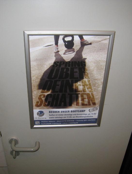 Bootcamp Köln Plakat - Spring über deinen Schatten (1)